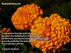 Irving R. Kaufman Quotes 1